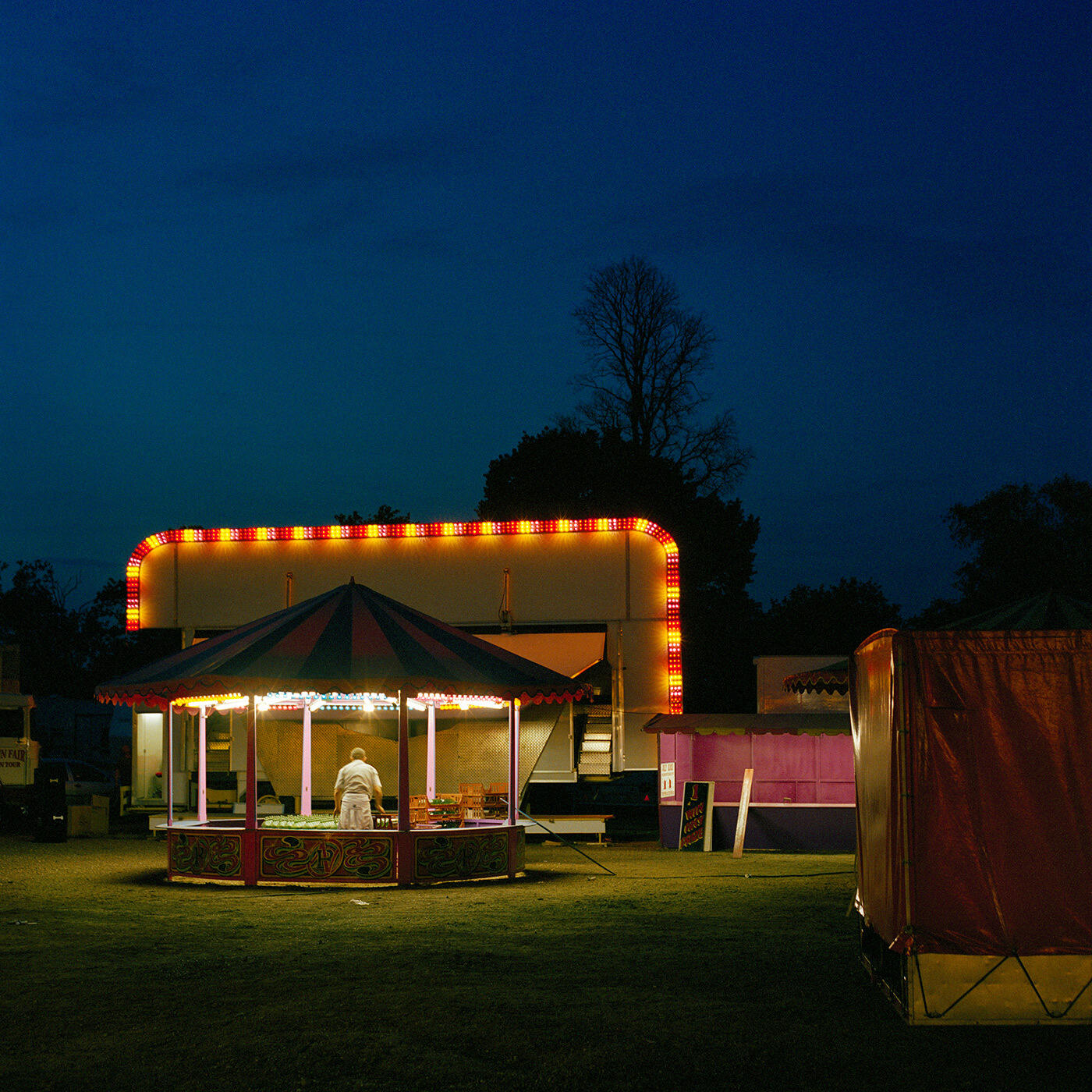 Packing Up The Fair, Clapham Common c2006
